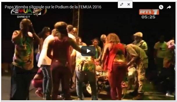Papa Wemba s'écroule sur la scène du FEMUA