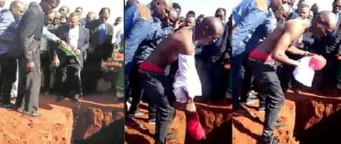 Afrique du Sud: un homme enterré avec de la bière, de l'argent, et des téléphones portables