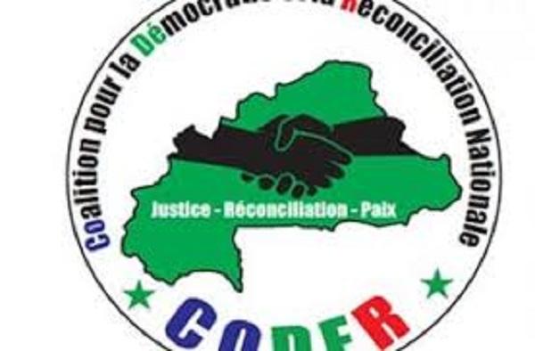 Burkina Faso : La CODER  à la marche-meeting du 29 septembre 2018