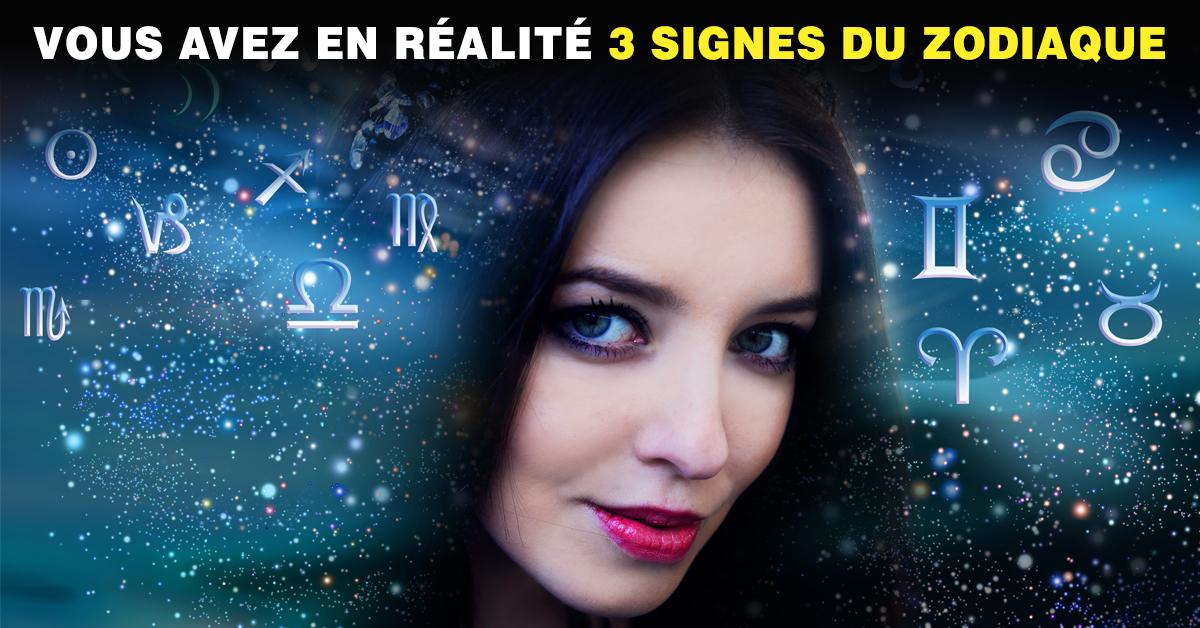 Astrologie : vous avez en réalité 3 signes du zodiaque