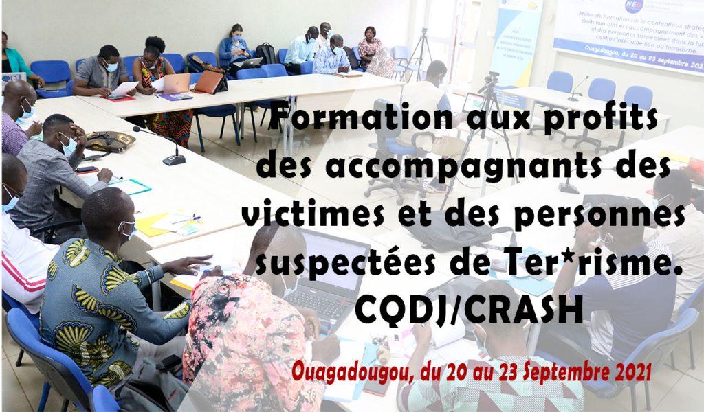 Formation aux profits des accompagnants des victimes et des personnes suspectées de Terrorisme.